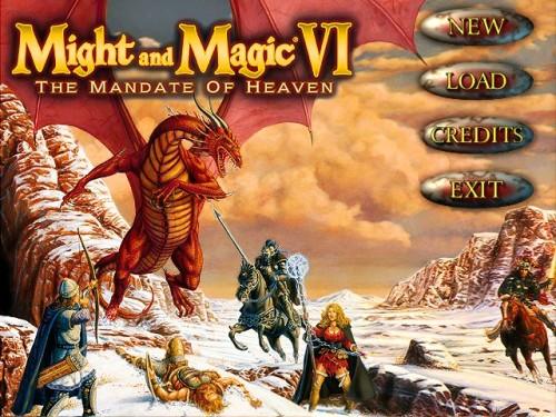 Might and Magic 6 - Main Menu