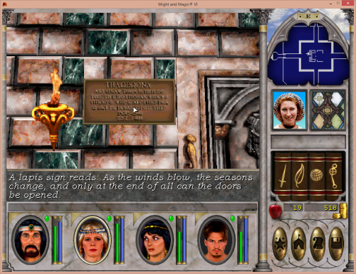 Might and Magic 6 - Temple of Baa Puzzle